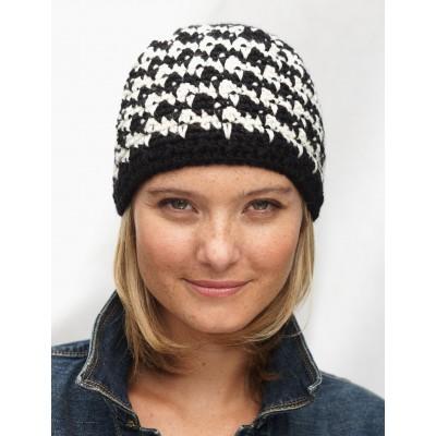 670d4f4c68e Houndstooth Hat · Houndstooth Hat. Houndstooth Hat Free Crochet Pattern  ...