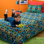Kids Twin Bed Afghan & Pillow Crochet