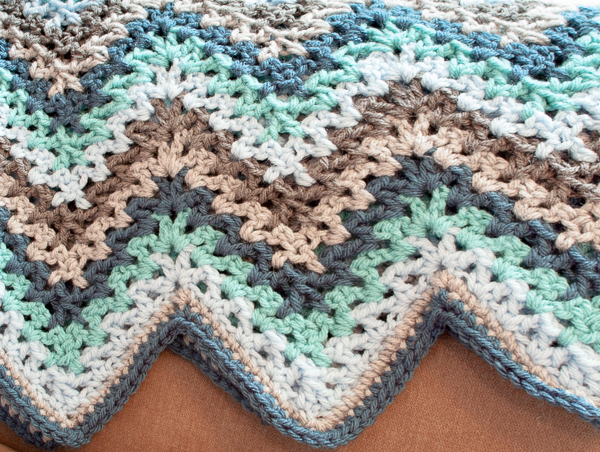 Granny Ripple Blanket Crochet Pattern Knitting Bee