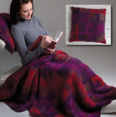 Mitered-Square-Cushion-and-Blanket