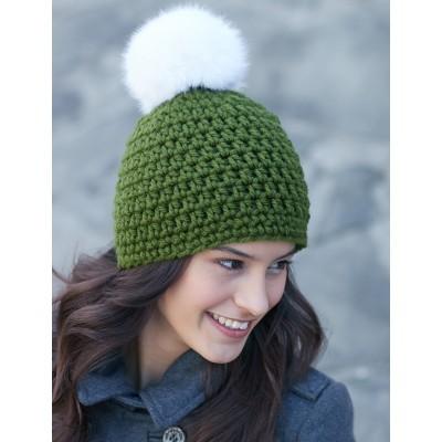 Quick Pompom Hat crochet