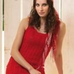 Red Mini Dress Free Knitting Pattern