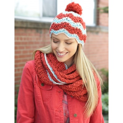Ripple Hat and Cowl Set to Crochet