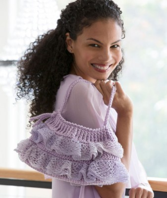 Ruffled Bottom Bag crochet free