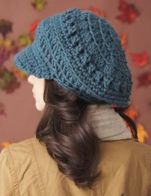 Slouchy Peaked Hat Free Crochet Pattern 1