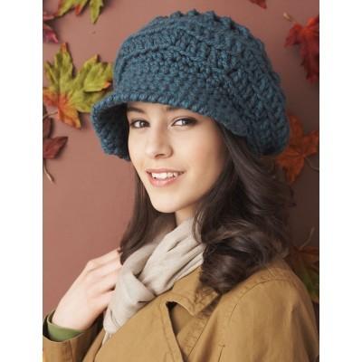 Slouchy Peaked Hat Free Crochet Pattern