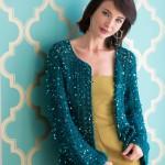Sparkly Evening Cardigan Crochet Free Pattern