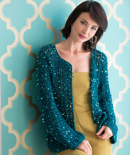Sparkly Evening Cardigan Crochet Free Pattern ⋆ Knitting Bee