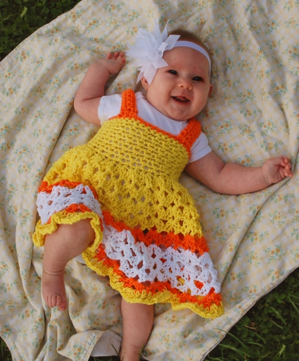 Sunshine and Marmalade Crochet Baby Dress