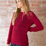 Winifred - Chevron Lace Sweater Knitting Pattern