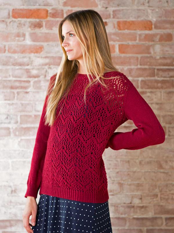 Winifred Chevron Lace Sweater Knitting Pattern