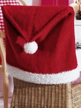 christmas knitted Chair Back Cover pattern
