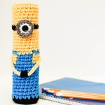 Crochet Minion Pencil Case