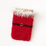 Knitted Santa Gift Card Holder