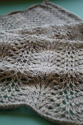 A simple lace scarf pattern