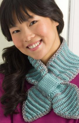Bow Tie Neck Warmer Crochet Pattern