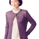 One Button Lacy Cardigan