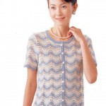 Short Sleeve Ripple Cardigan Knitting Pattern
