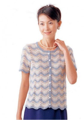 LACE SHORT SLEEVE CARDIGAN KNITTING PATTERN   KNITTING PATTERN