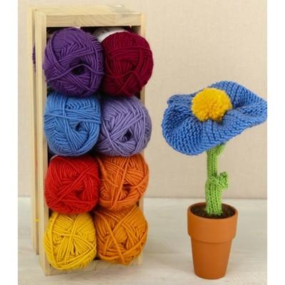Berkshire Blossoms free flower knitting pattern 1