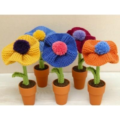 Berkshire Blossoms free flower knitting pattern