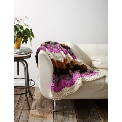 Free knitting pattern for a chunky ripple afghan blanket