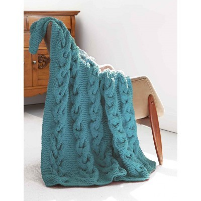 freen knitting pattern for a chunky cable afghan blanket
