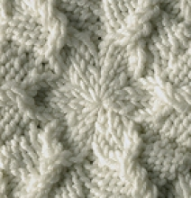 Cabled Snowflake Free Knitting Pattern