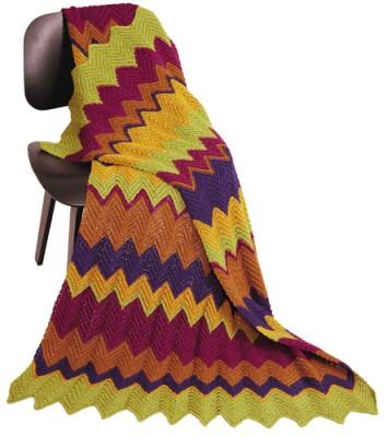 Madrid Comfort - Ripple Stitch Crochet Afghan
