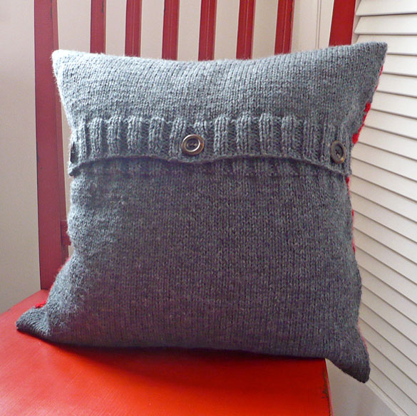 Xs And Os Pillow Cover Knitting Bee