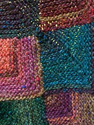 mitered square blanket detail