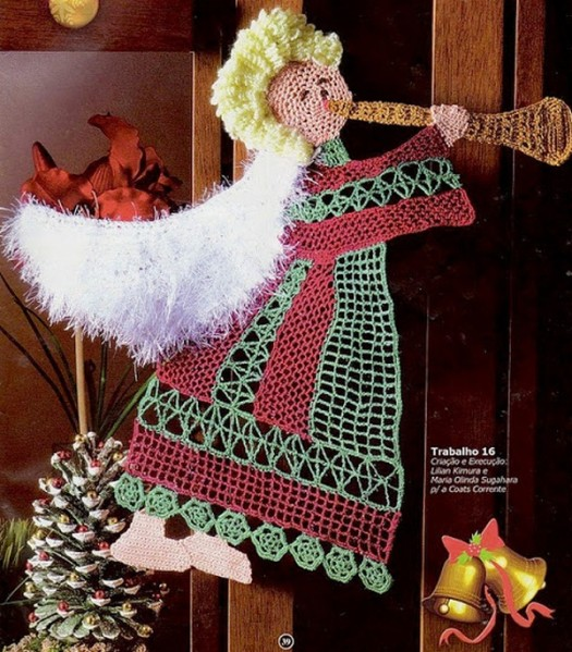 Angel With White Wings - Free Crochet Pattern