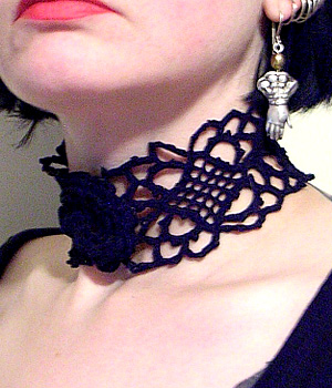 Asphyxiation Gothic Crochet Choker Pattern