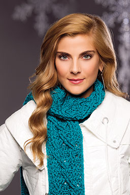 Crazy for Cables Scarf - Crochet