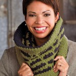Deco Striped Cowl Knitting