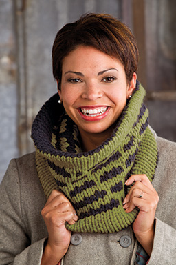 Deco Striped Cowl