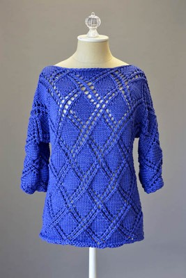 Diamond Cross Pullover free pattern friday
