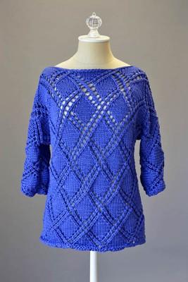 Diamond Cross Pullover free pattern friday