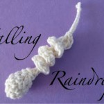 Falling Raindrop Crochet Ornament Pattern