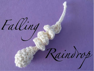 Falling Raindrop Crochet Ornament Pattern