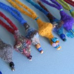 Felted Lantern Necklace