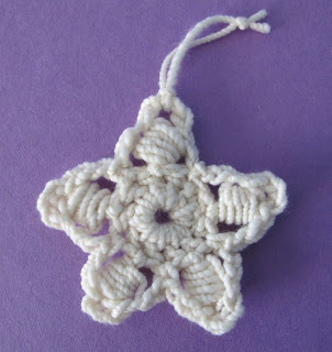 Five Point Star Crochet Ornament Pattern