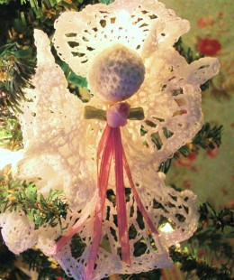 Victorian Vintage Angel Christmas Ornament