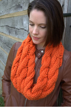 Galway Roving Cable Drop Stitch Cowl