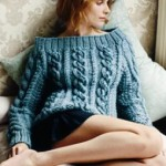 Free Off the Shoulder Knitted Cable Sweater Pattern