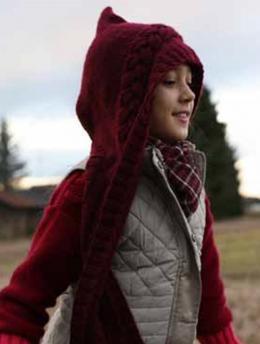 Hooded Scarf free knitting pattern fro kids