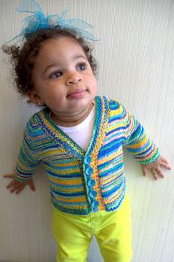Kimera Seamless baby Cardigan free knitting pattern