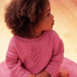 Lacy Sweater For Girls Knitting Pattern