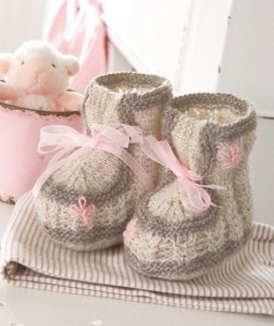 free baby booties knitting pattern