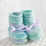 My first Regia - Free Baby Booties Knitting Pattern
